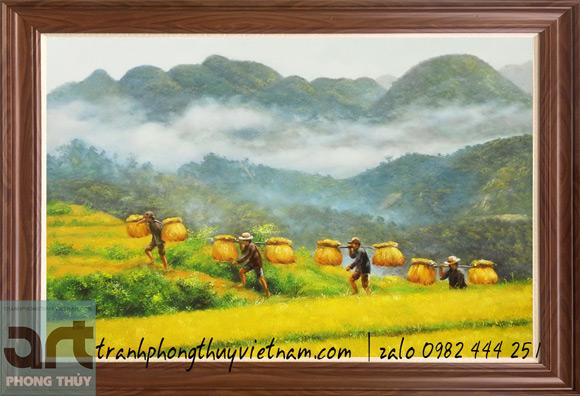 tranh sơn dầu phong cảnh vùng cao