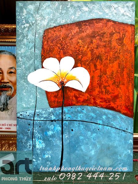 tranh bộ hiện đại vẽ hoa lá