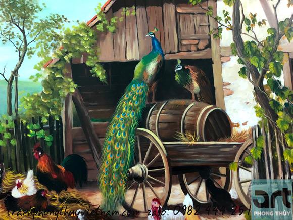 tranh sơn dầu vẽ trên vải toan hàng cao cấp