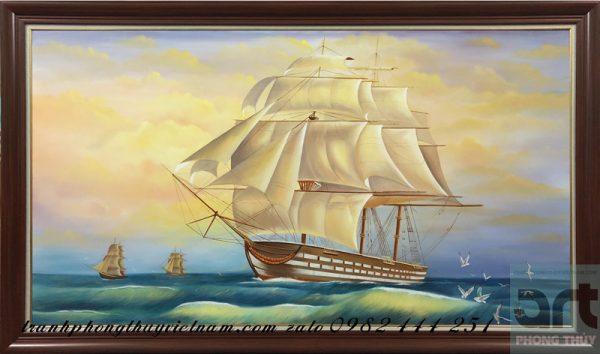 tranh thuận buồm xuôi gió quà tặng doanh nhân