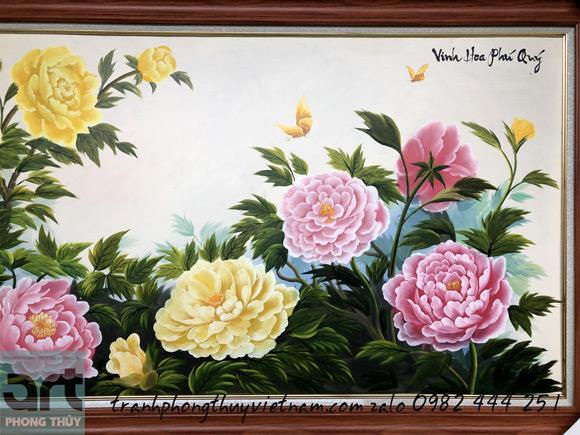 vinh hoa phú quý hoa mẫu đơn 9 bông