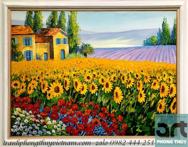 tranh phong cảnh hoa hướng dương