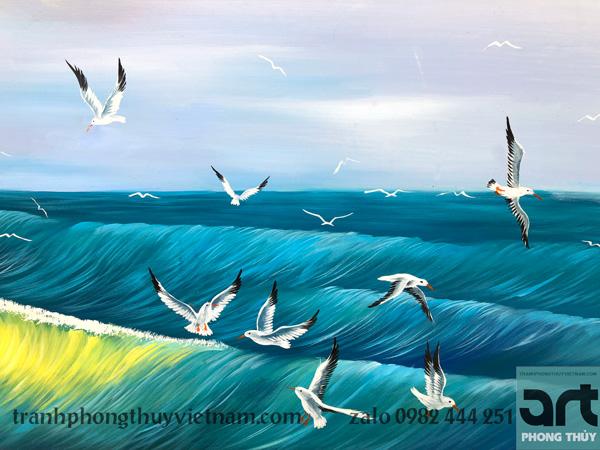 đàn chim hải âu trong tranh thuận buồm xuôi gió