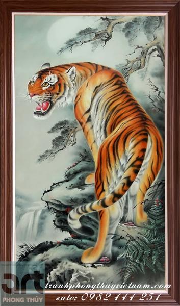 tranh phong thủy vẽ con hổ đẹp nhất