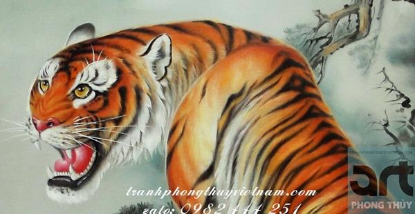 tranh vẽ con hổ