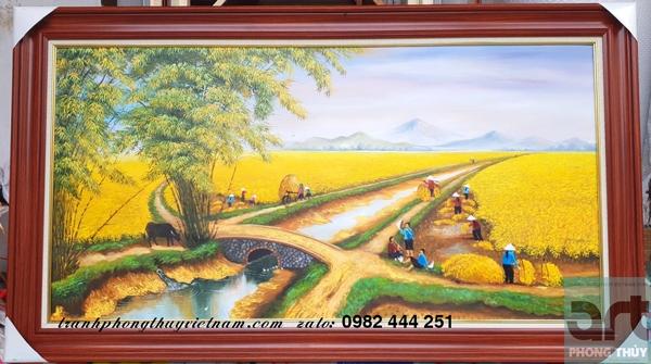 xưởng vẽ tranh đồng quê sưn dầu uy tín