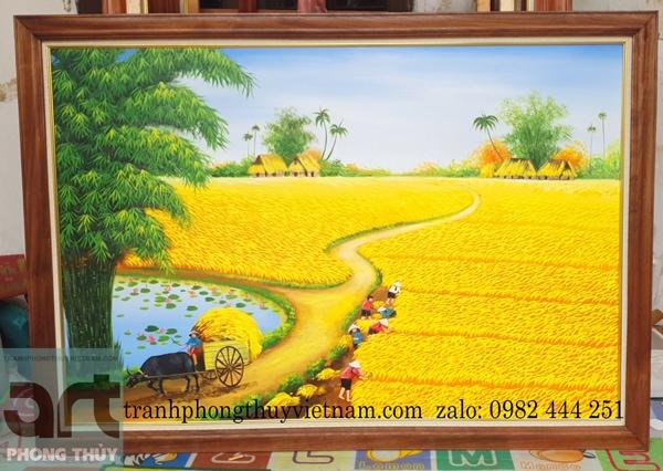 xưởng vẽ tranh phong cảnh quê hương tại hà đông hà nội