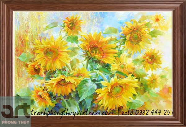 tranh sơn dầu hoa hướng dương