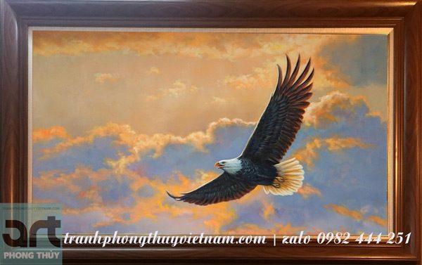 tranh phong thủy đại bàng tung cánh