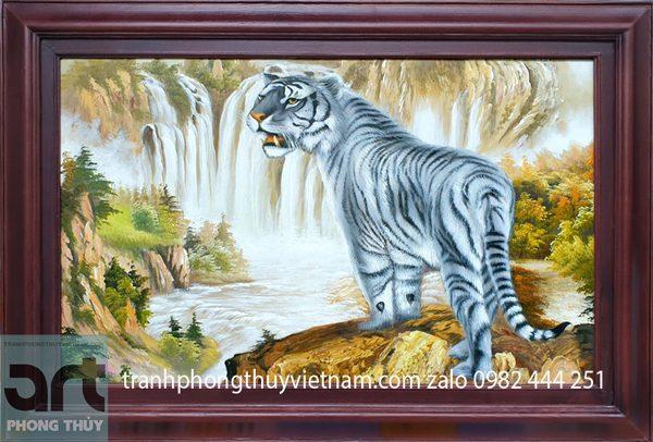 tranh sơn dầu bạch hổ