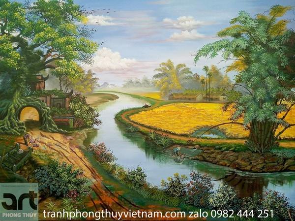 phong cảnh làng quê yên bình