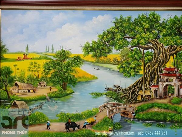 cảnh làng quê yên bình