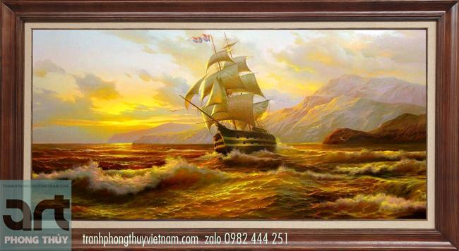 Phong cảnh biển thuận buồm xuôi gió