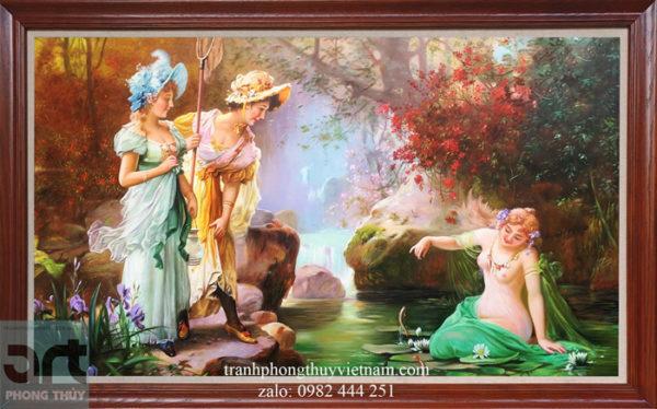 tranh sơn dầu tiên nữ hans zatzka