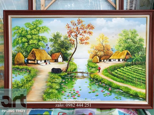 xưởng vẽ tranh làng quê