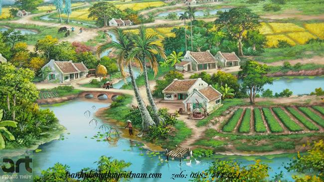 phong cảnh làng quê thanh bình