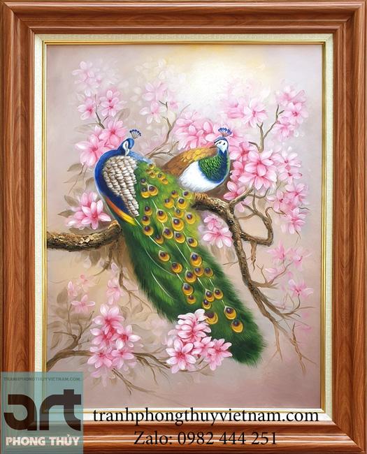 Tranh phong thủy chim công đẹp nhất