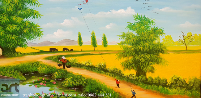 tuổi thơ thả diều bên cánh đồng quê