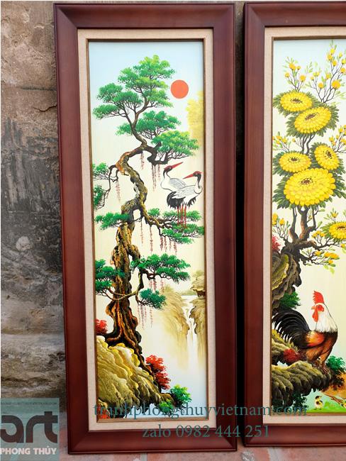 cây tùng trong bộ tranh tứ quý