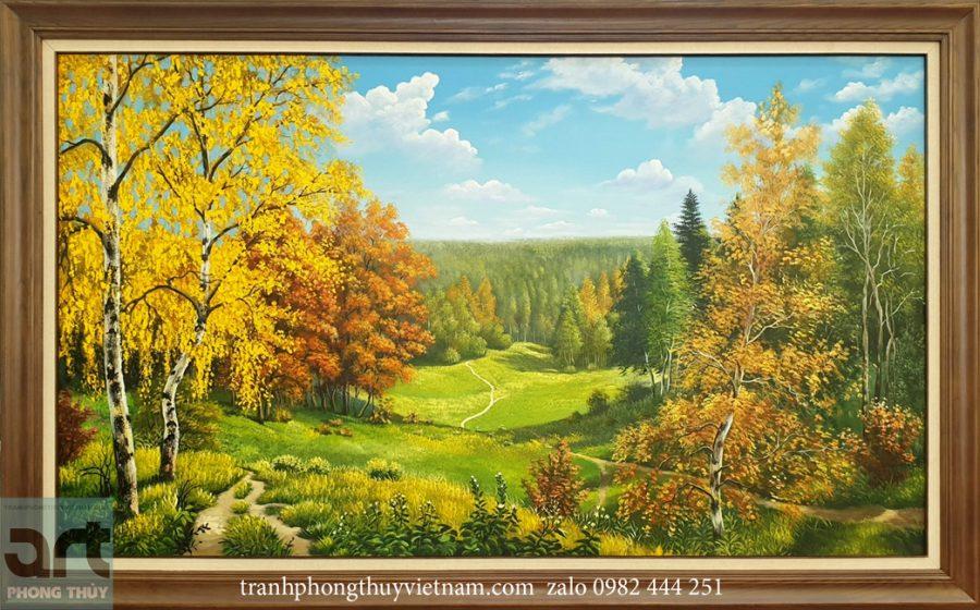 tranh phong cảnh thiên nhiên đẹp nhất