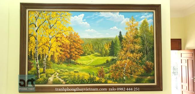 tranh phong cảnh thiên nhiên treo phòng khách tuyệt đẹp