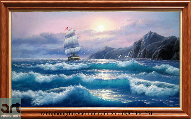 Tranh phong cảnh biển thuận bồm xuôi gió