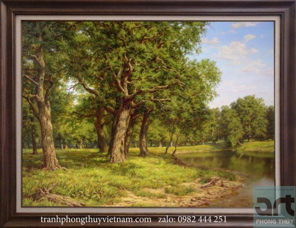Tranh phong cảnh châu âu rừng cây
