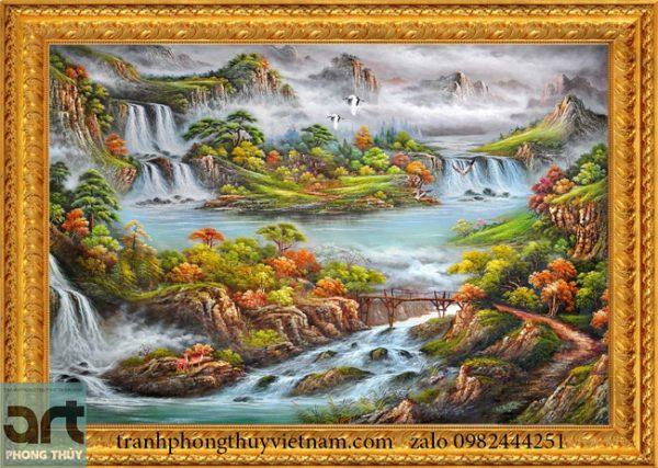 Tranh phong cảnh đẹp sơn thủy