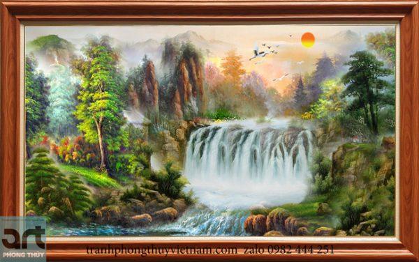 Tranh phong cảnh sơn thủy đẹp treo phòng khách
