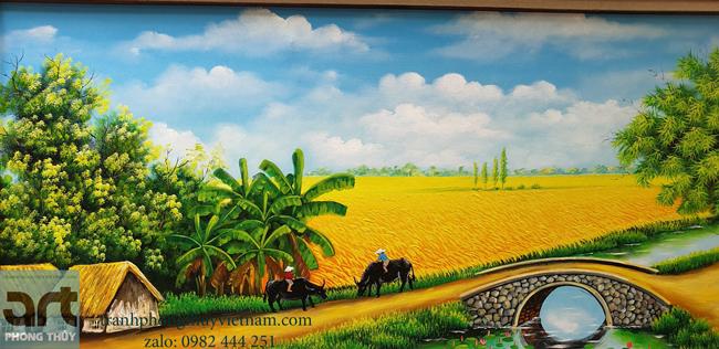 Tranh đồng quê mang gam màu tươi tắn