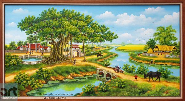 Tranh phong cảnh làng quê đẹp nhất