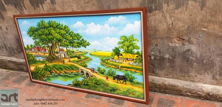 Tranh phong cảnh làng quê đẹp nhất treo trang trí