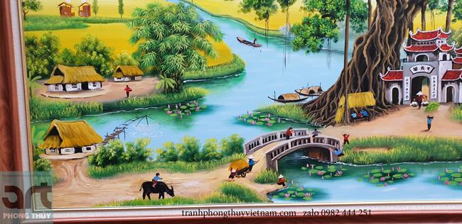 tranh phong cảnh làng quê tuyệt đẹp