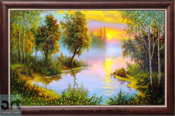 Tranh sơn dầu phong cảnh đẹp 2021