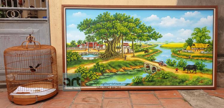 Xưởng vẽ tranh phong cảnh làng quê đẹp nhất