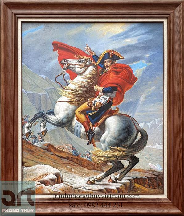 tranh sơn dầu Napoleon vượt dãy Anpơ