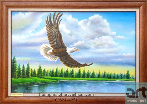 Tranh phong thủy chim đại bàng tung cánh