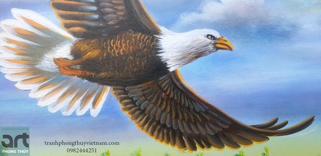Tranh vẽ chim đại bàng tung cánh