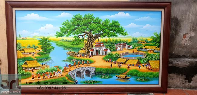 bức tranh vinh quy bái tổ màu sơn dầu đẹp và ý nghĩa